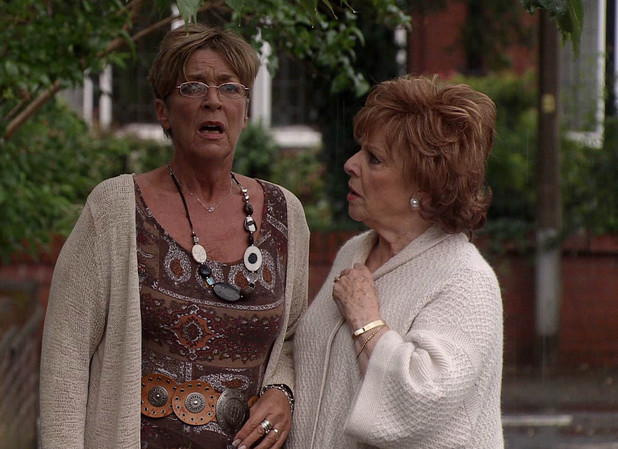 Deirdre gets the shock of her life when she watcheds Ken arrive at Wendy's