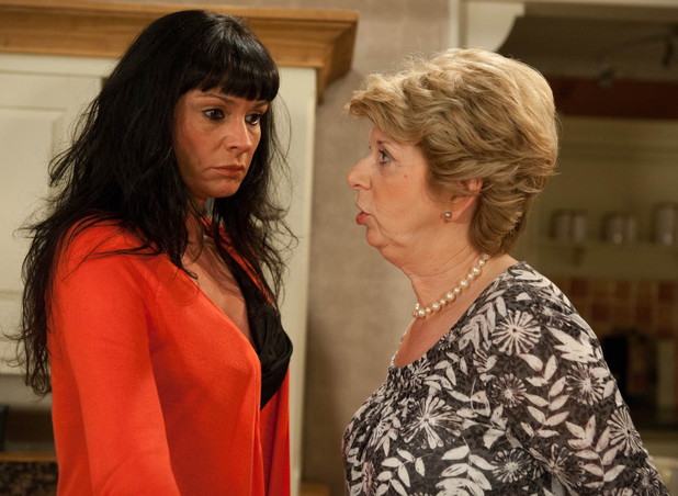 6363: Chas lies to Diane, telling her that she took the money because she'd got into debt with the wedding, leaving her furious