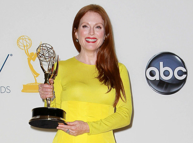 Julianne Moore with her Emmy for &#39;Game Change&#39;, September 23 2012