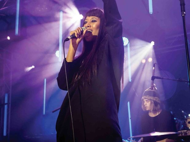 VV Brown performs as part of Guinness celebrations for Arthur's Day