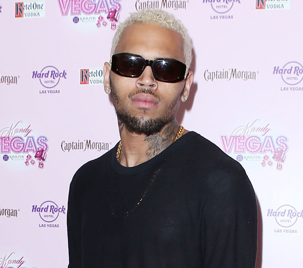 Chris Brown arrives to perform at Kandy Vegas at the Paradise Pool at Hardrock Hotel and Casino Las Vegas, Nevada - 01.09.12