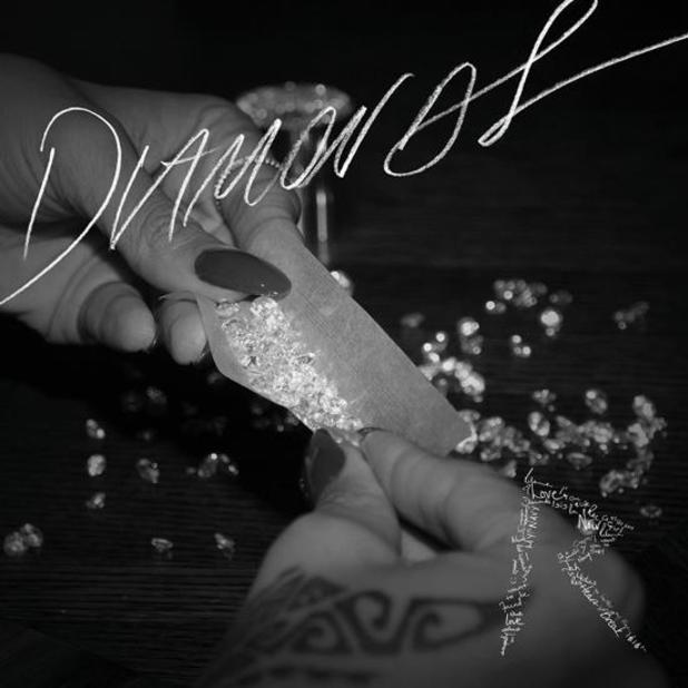 Rihanna 'Diamonds' single artwork.