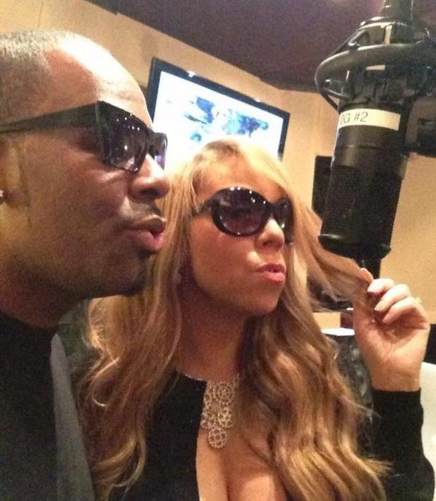 Mariah Carey and R Kelly recording