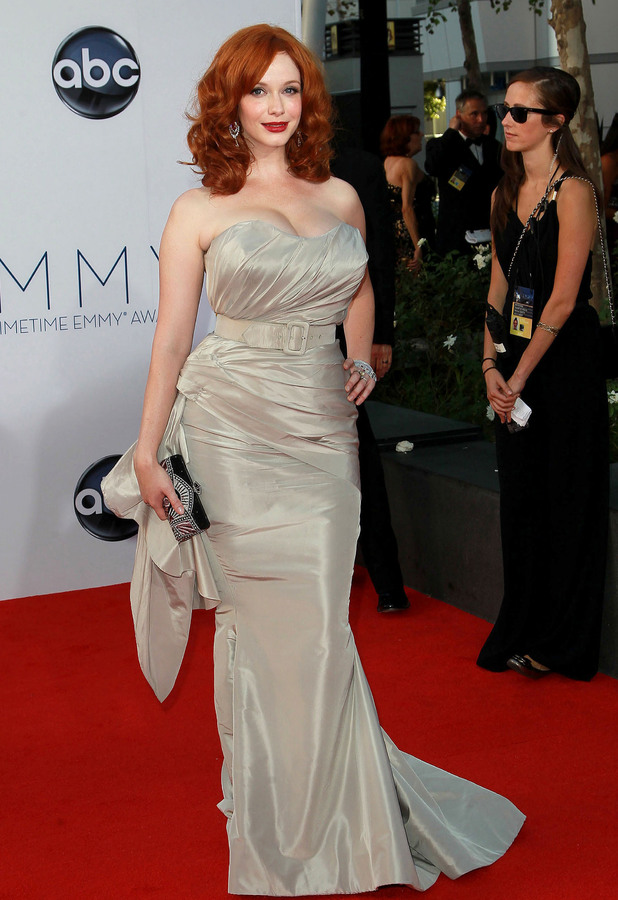 Christina Hendricks 64th Annual Primetime Emmy Awards, held at Nokia Theatre L.A. Live - Arrivals Los Angeles, California - 23.09.12 Mandatory Credit: WENN.com/FayesVision