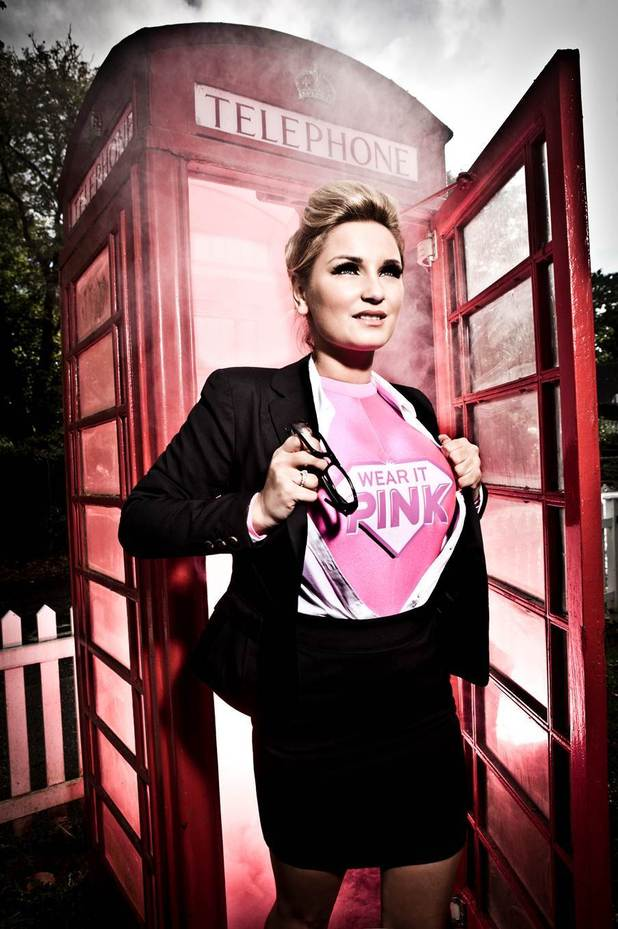 Sam Faiers supports Breast Cancer Campaign 'wear it pink'
