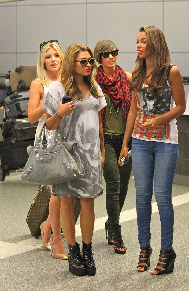 Rochelle Wiseman, Mollie King, Frankie Sandford and Vanessa White