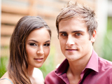 Christopher Milligan and Gemma Pranita as Kyle Canning and Jade Mitchell in Neighbours
