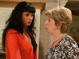 6363: Chas lies to Diane, telling her that she took the money because she&#39;d got into debt with the wedding, leaving her furious