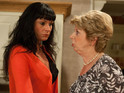 Diane learns that Chas has betrayed her in Emmerdale tonight.