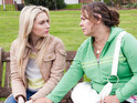 Carmel and Myra have a heart-to-heart in Hollyoaks tonight.