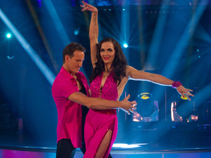 Victoria Pendleton and Brendan Cole's first live dance, Strictly Come Dancing