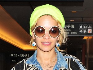 Rita Ora catches a flight at Narita International Airport Tokyo, Japan