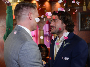 Christian and Syed exchange vows in the Argee Bahjee.