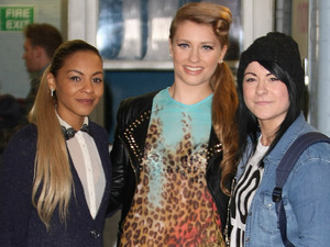 X Factor finalists Jade Ellis, Ella Henderson and Lucy Spraggan at the ITV studios London, England