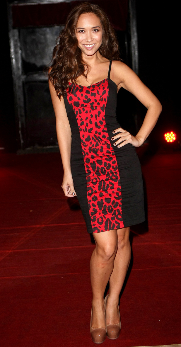 Myleene Klass outside the Crazy Horse Cabaret club