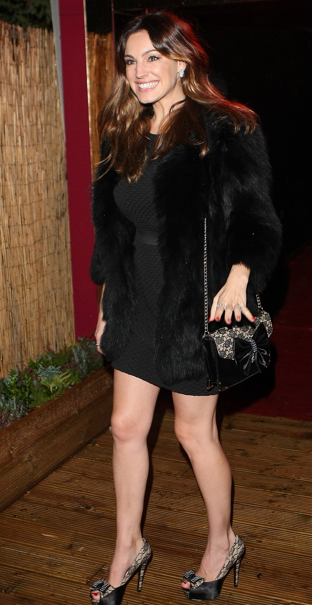 Kelly Brook leaving the Crazy Horse Cabaret club.