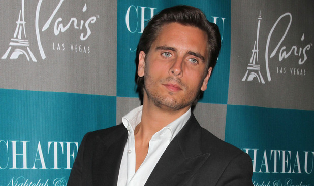 Scott Disick walks the red carpet at Chateau Nightclub and Gardens Las Vegas, Nevada