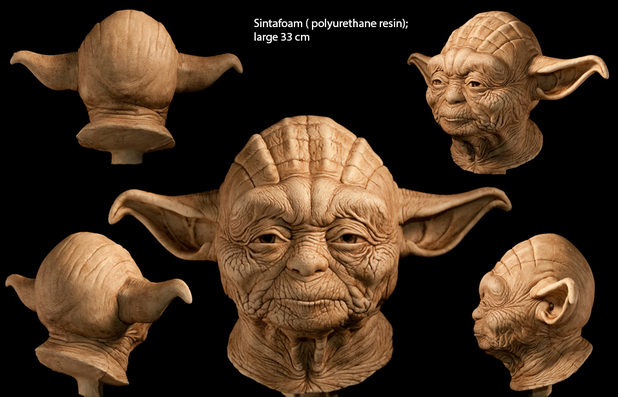 Artist sculpts human-like Star Wars Yoda