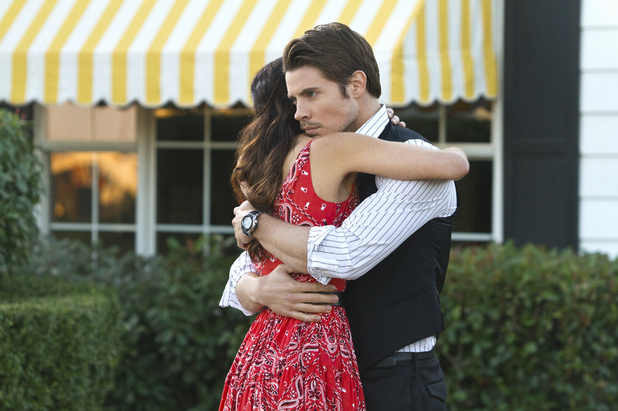 Jordana Brewster as Elena Ramos and Josh Henderson as John Ross Ewing