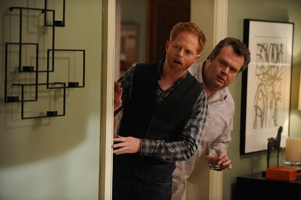 Jesse Tyler Ferguson as Mitchell and Eric Stonestreet as Cameron in 'Modern Family'