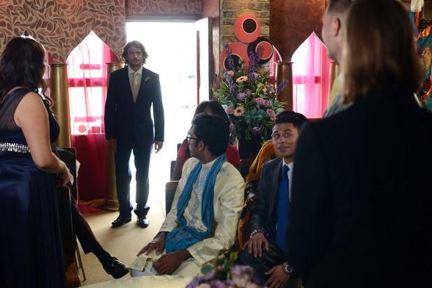 Christian and Syed's wedding day in EastEnders