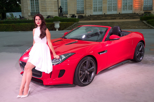 Lana Del Rey launches Jaguar F-Type at Musee Rodin in Paris