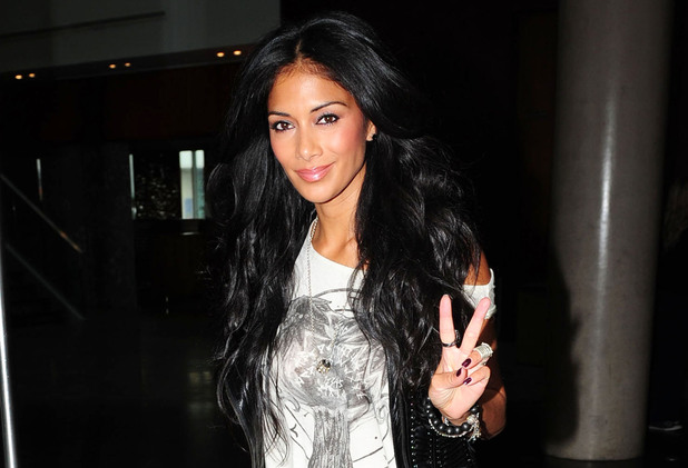 Nicole Scherzinger X Factor judges leaving their hotel for the first day of boot camp Liverpool, England