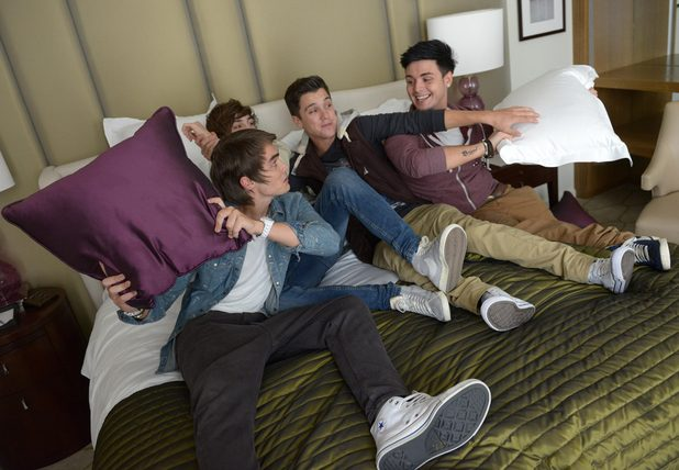 The X Factor 2012: Finalists Union J in their new home, The Corinthia Hotel