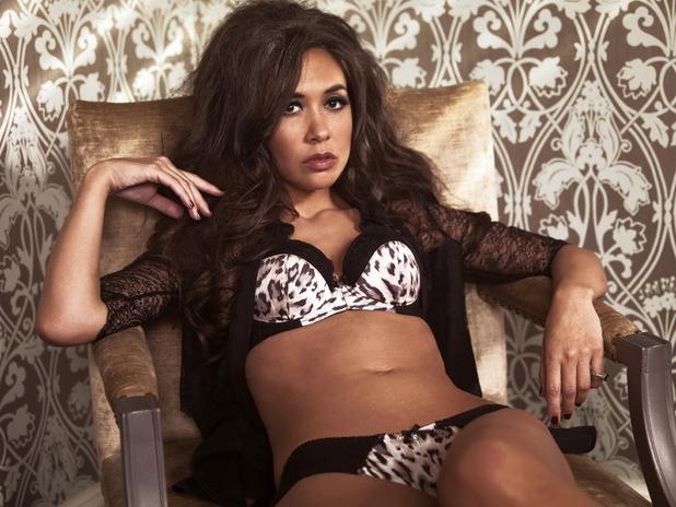 Myleene Klass models her lingerie collection for Littlewoods.com