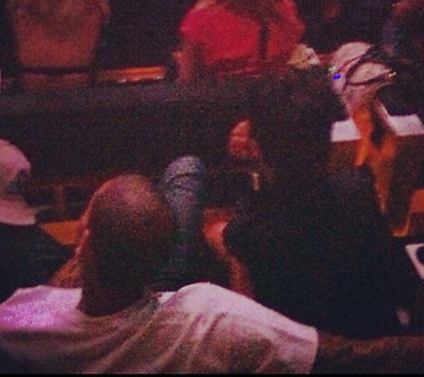 Chris Brown and Rihanna at the Barclays Centre for Jay-Z concert