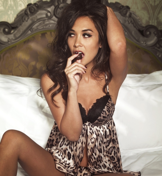 Myleene Klass models her lingerie collection for Littlewoods.com