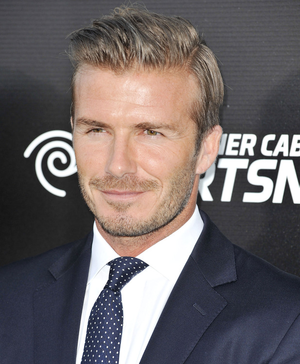 David Beckham, the Time Warner Cable Sports launch of Time Warner Cable SportsNet And Time Warner Cable Networks at Time Warner Cable Sports Studios El Segundo, California - 01.10.12Mandatory Credit: Apega/WENN.com