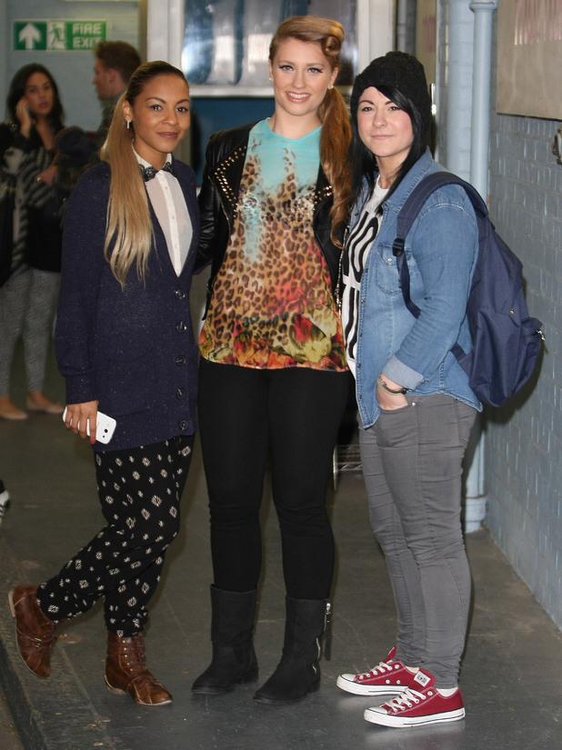 X Factor finalists Jade Ellis, Ella Henderson and Lucy Spraggan