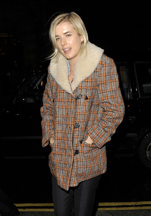 Agyness Deyn arriving back at her hotel. London, England
