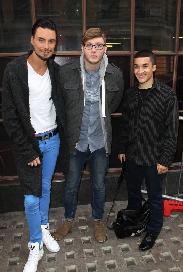 Rylan Clark, James Arthur and Jahmene Douglas