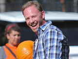 Ian Ziering enjoying time with his family at Mr. Bones Pumpkin Patch, LA.