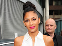 X Factor judge Nicole Scherzinger is heard apparently ranting against London move.