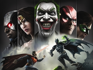 Injustice: Gods Among Us game art