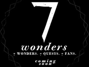 Rihanna &#39;7 Wonders&#39; interactive experience poster.