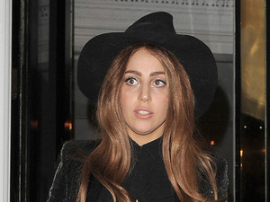 Lady Gaga leaves The Ecuadorian Embassy at midnight, having spent five hours inside visiting Wikileak's founder Julian Assange. Gaga made no comment as she left the premises. London, England - 09.10.12 Mandatory Credit: Will Alexander/WENN.com