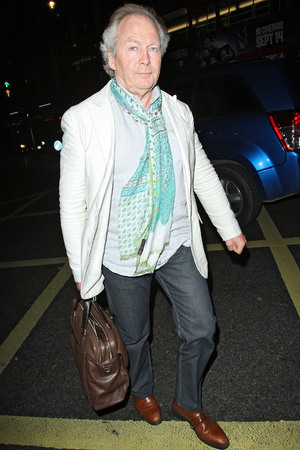 Richard Holloway leaving the Arts Club in Mayfair London