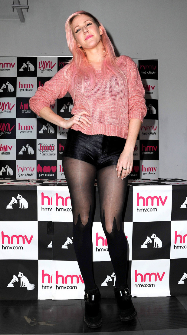 Ellie Goulding promotes and signs copies of her new album 'Halcyon' at HMV Manchester