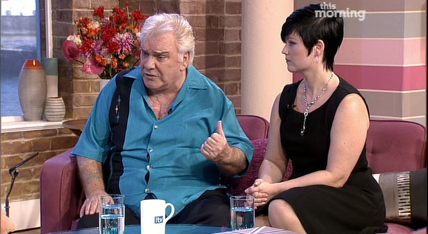 Freddie Starr and fiancee Sophie Lea appear on 'This Morning'.