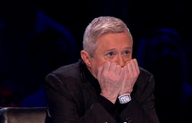 Louis Walsh decides between sending Rylan Clark or Carolynne Poole home on X Factor's first live show.