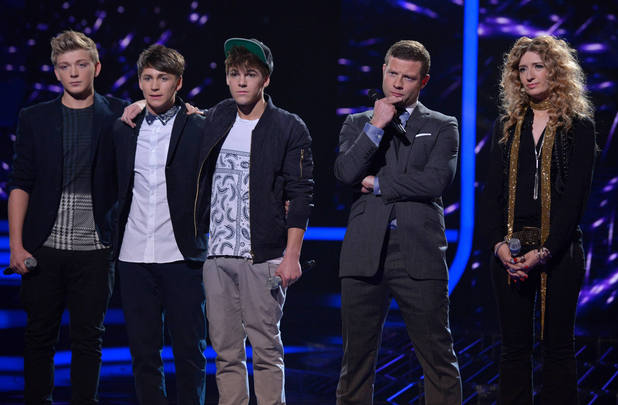The X Factor Results Show: District 3 and Melanie wait for the judges decision.