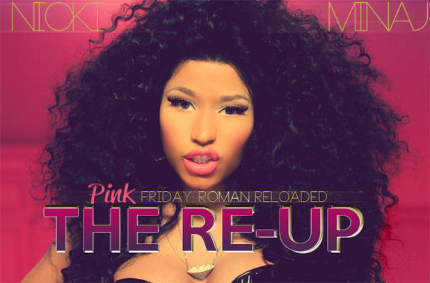 Nicki Minaj 'Pink Friday: Roman Reloaded: The Re-Up' artwork preview.