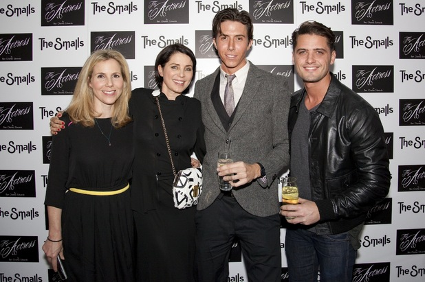 Sally Phillips, Sadie Frost, Ben Charles Edwards and Fabrizio Santino at the premiere of 'The Actress'