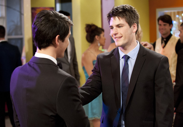 Chris is elated when Aiden arrives at the ball.