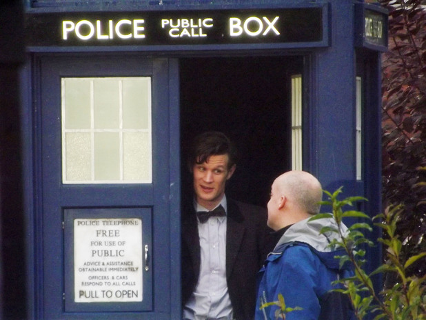 Doctor Who: Matt Smith, Jenna Louise Coleman filming in Cardiff