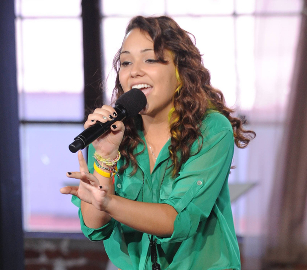 Jennel Garcia at The X Factor USA Judges' Houses